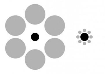 Иллюзия Эббингаузена (Ebbinghaus)